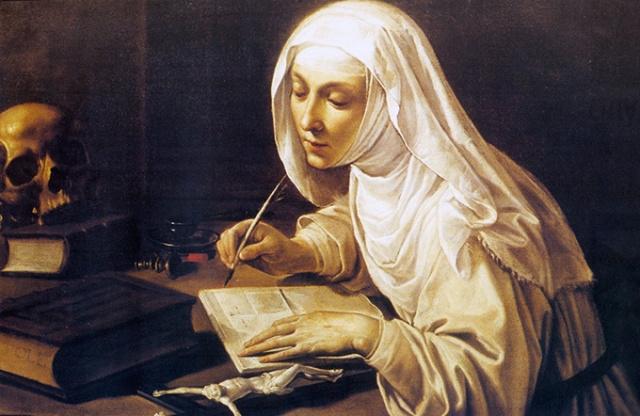 St Caterine Writing